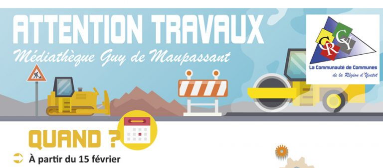 travaux-mediatheque-guy-de-maupassant