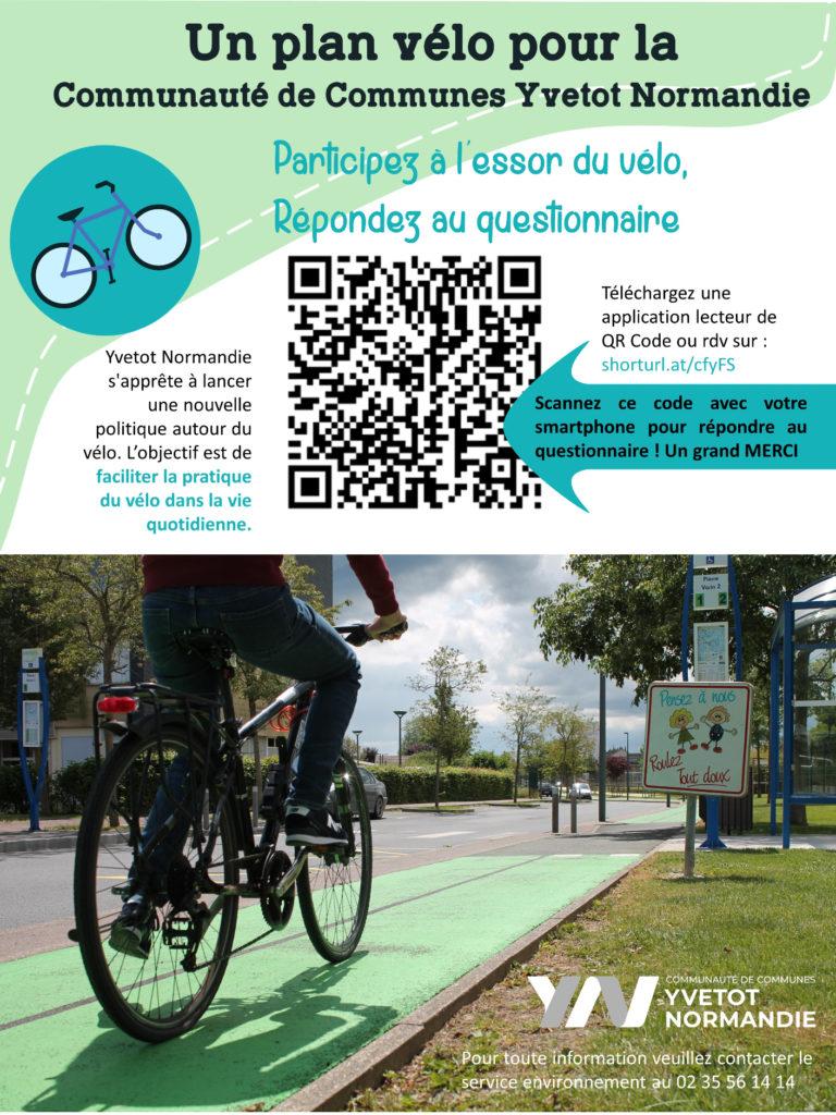 affiche questionnaire vélo